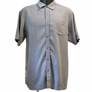 O'Neill men's grey button front shirt XL
